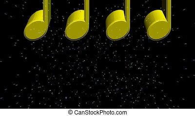 notatki, muzyka, 3d
