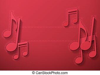 notatki, muzyka, kasztanowate tło