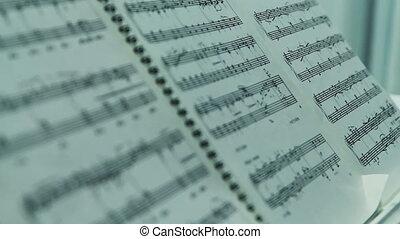 notatki, muzyka, piano
