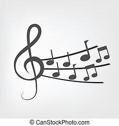 notatki, muzyka, tło