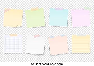 notatki, papier