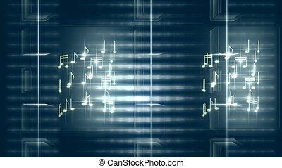 notatki, przędzenie, muzyczny