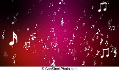 notatki, transmisja, powstanie, loopable, muzyka, wypadki, hd, czerwony