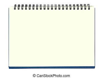 notatnik, żółty