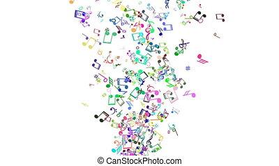 notatnik., barwny, abstrakcyjny, muzyka, tło, pętla