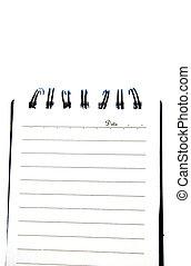 notatnik, odizolowany