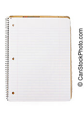 notatnik, otworzony