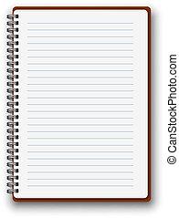 notatnik, pionowy