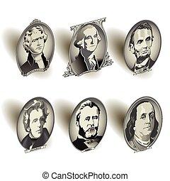 note, éléments, ovale, présidentiel