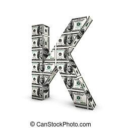 note, alphabet, j, dollar, isolé, white., lettre