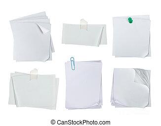 note, blanc, papier