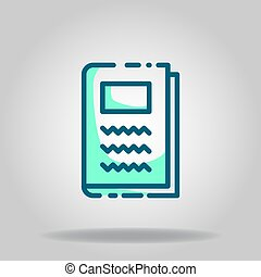note book icon or logo in  twotone - Logo or symbol of note ...