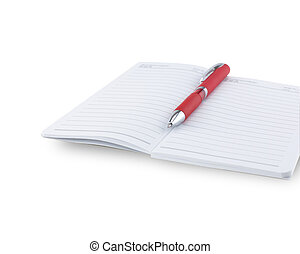Note book with pen