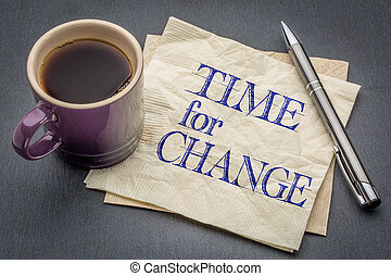 note, changement, temps