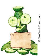 note, concombre