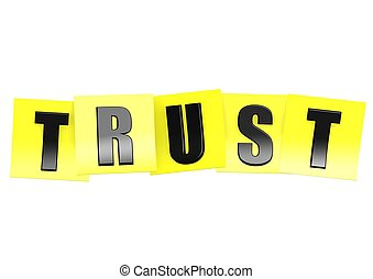 note, confiance, jaune