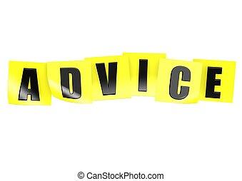 note, conseil, jaune