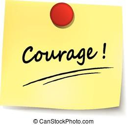 note, courage, jaune