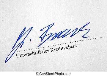 note, créanciers, signé