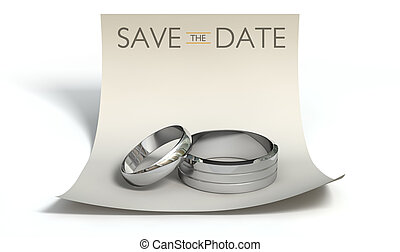 note, date, sauver, anneaux