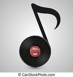note, disco, vinile, forma