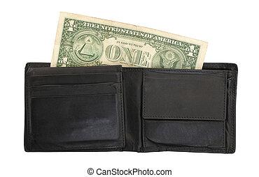 note, dollar, haut, portefeuille, une, nous, fin