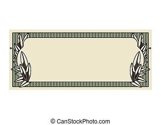 note, dollar, isolé, cachet, impression, icône