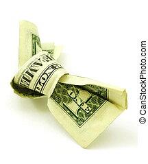 note, dollar, noeud, une