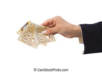note, dollaro, banca, canadese