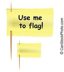 note, drapeau, aimer, poteau-il