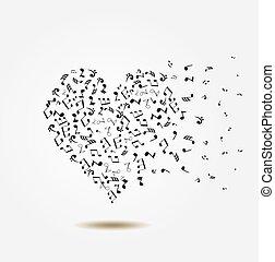 note heart