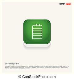 Note Icon Green Web Button