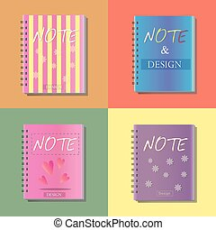 note icon, notebook, office, vector illustration,