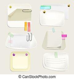 note, illustrazione, clip, vettore, carta, messaggio