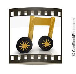 note is car-wheel. The film strip