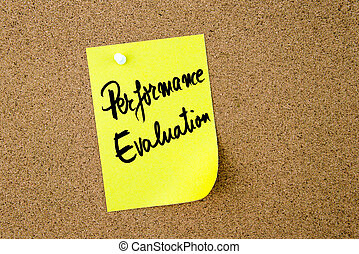 note jaune, écrit, papier, évaluation performances