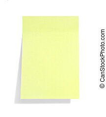 note, jaune, ombre, collant