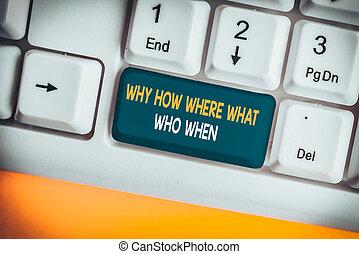 note, main, trouver, blanc, solutions, pourquoi, arrière-plan., projection, comment, quel, au-dessus, écriture, demander, papier, où, showcasing, questions, business, photo, clavier, question, when., pc, conceptuel