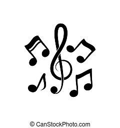 note music vector illustration design