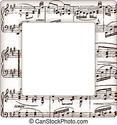note musica, cornice