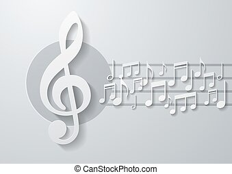 note musica, fondo