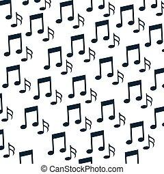 note musica, modello, fondo