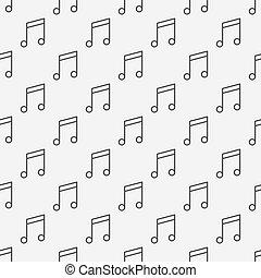 note musica, modello