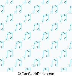 note musica, seamless, modello