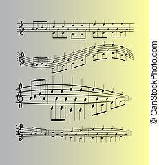 note musica, vettore