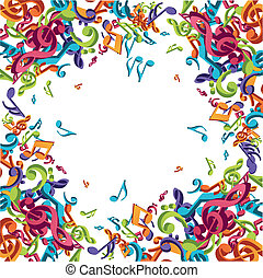 note, musicale, colorito