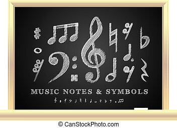 note, musicale, scritto mano