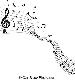note musicali, disegno