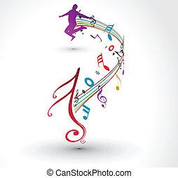 note musicali, fondo