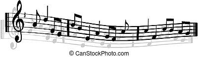 note musicali, personale, fondo